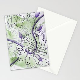 Purple Loops Flower (Nepenthes Series - 13) Stationery Cards