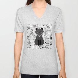 Kitten Fang Unisex V-Neck