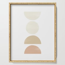 Balancing Shapes in Soft Pink Peach Serving Tray