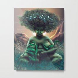 Mother Baobab Metal Print
