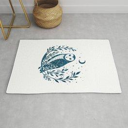 Owl Moon - Blue Rug