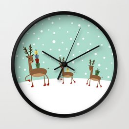 Christmas gifts from the reindeer #society6 #homedecor Wall Clock