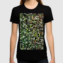 Jumbled Text Pattern T-shirt