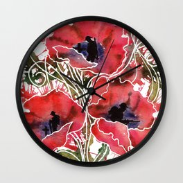 Remembrance Poppy Army Tommy Soldier Wall Clock