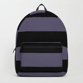 VA Mystical Purple - Metropolis Lilac - Dried Lilacs Hand Drawn Fat Horizontal Lines on Black Backpack