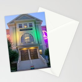 Rainbow Provincetown Town Hall Stationery Cards
