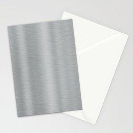 Aluminum Brushed Metal Stationery Cards
