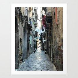 Naples Alleyway Art Print