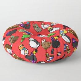 Lucha Birds Floor Pillow
