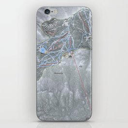 Heavenly Resort Trail Map iPhone Skin