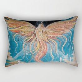 Ascension // Visionary Art Phoenix Spirit Soul Consciousness Spiritual Chakra Awakening Lightworker Rectangular Pillow