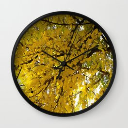 Liquid Amber Autumn Vibes Abstract Wall Clock