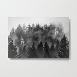 Charcoal Forest Fog - 26/365 Metal Print