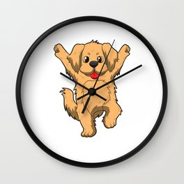 Jubilation Dog Dance Emote Funny Gift Wall Clock