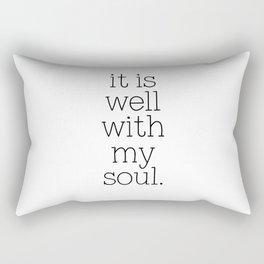 It Is Well With My Soul - Christian Quote, Bible Verse, Inspirational Hymn Lyrics, Scripture Art Rectangular Pillow