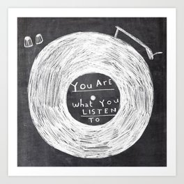 you are what you listen to, BLACK Kunstdrucke