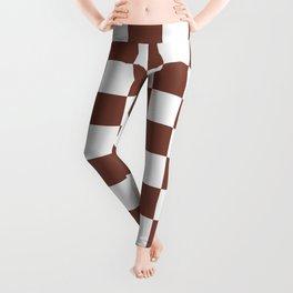 Checkered (Brown & White Pattern) Leggings
