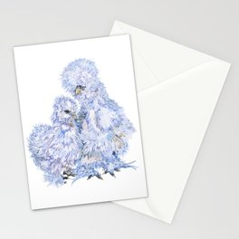 Silkie Chickens - Aspen and Toto Stationery Cards