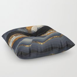 Metallic Mountains Floor Pillow