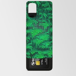 Fern Grid Plant Wall Android Card Case