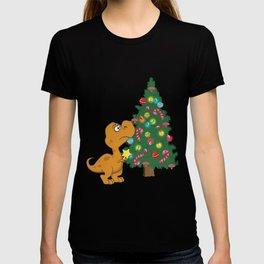 Struggle Is Real Cute Dinosaur Christmas Tree Star graphic T-shirt