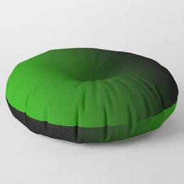 Green Powerful Blurred Energy Floor Pillow