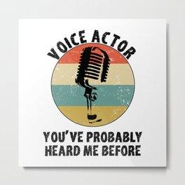 Voice Actor - Voice Over Artist - Dubbing Artist - Dubber Metal Print
