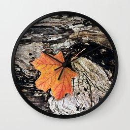 Maple Leaf - Orange Wall Clock