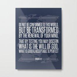 Romans 12:2 Metal Print
