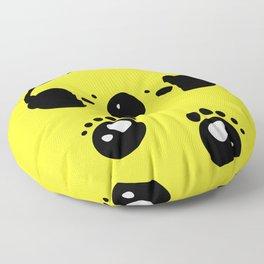 Panda bear love music Floor Pillow