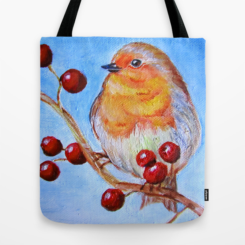 Robin Redbreast Tote Bag by Hidechan (TBG3732424) photo