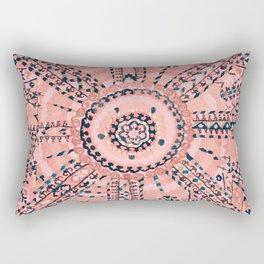 Light Pink Wildflower Sunshine I // 18th Century Colorful Pinkish Dusty Blue Gray Positive Pattern Rectangular Pillow