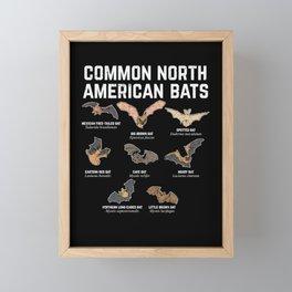 Common North American Bats Framed Mini Art Print