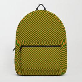 Orange and dark green squares Backpack