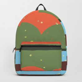 Digital Abstract Graphic Art GC-117-02 Backpack