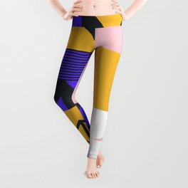 Abstract Geometric Composition 047 Leggings