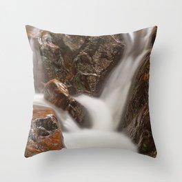 Shelving Rock Stream Throw Pillow