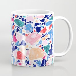Terrazzo Crystals / Mineral Texture in Blue, Pink and Turquoise Coffee Mug