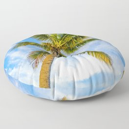 Palm in the Sky Floor Pillow