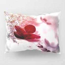 climbing hydrangea red Pillow Sham