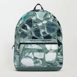 Icy Blue Mirror and Glass Mosaic Backpack