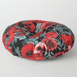 Poppy Garden Floor Pillow