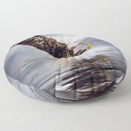 Bald Eagle swooping Floor Pillow