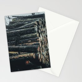 Poltery Site (Wood Storage Area) After Storm Victoria Möhne Forest 4 dark Stationery Cards