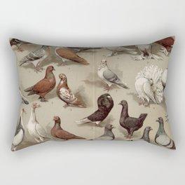 Vintage Pigeon Breeds Chart Rectangular Pillow