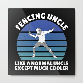 fencing uncle Metal Print