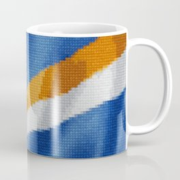 Marshall Islands Flag Raw Feathered Fabric Origin Expansion Coffee Mug