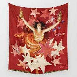 Vintage 1921 Italian Gancia Vermouth Advertisement by Leonetto Cappiello Wall Tapestry