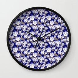 Blue Pansy  Wall Clock