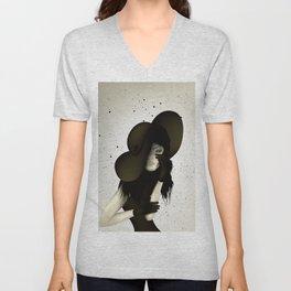 girl in the hat Unisex V-Neck